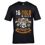 Premium 18 Year Old Biker Legendary Rider Cafe Racer Style Motif For 18th Birthday gift T-shirt Top